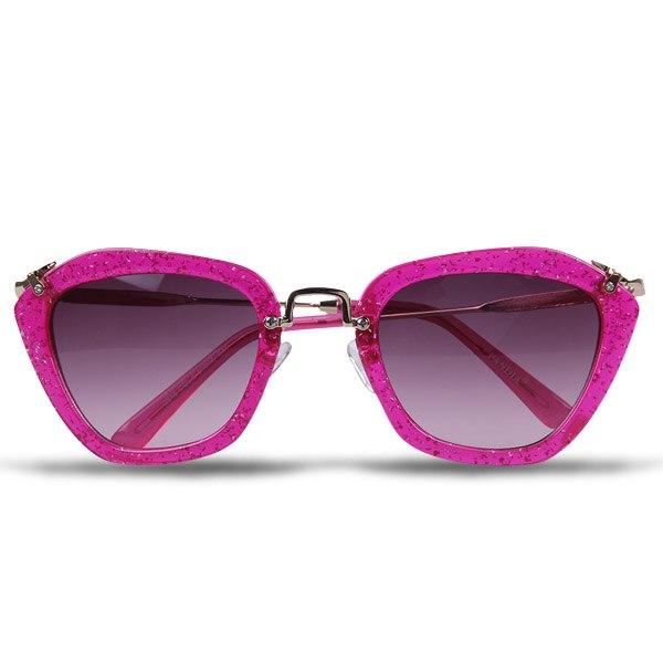 Ladies Womens Retro Vintage Fashion Designer Glitter Frame Gradient Sunglasses