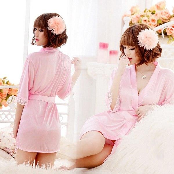 New Sexy Women Grown Spleey Ware Rayon Silk Sleepwear Nightdress Robes Pajamas