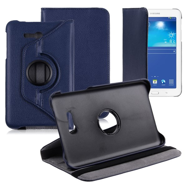 360 rotating stand case cover for samsung galaxy tab 3 lite 7 0 sm t110 t111 ebay. Black Bedroom Furniture Sets. Home Design Ideas