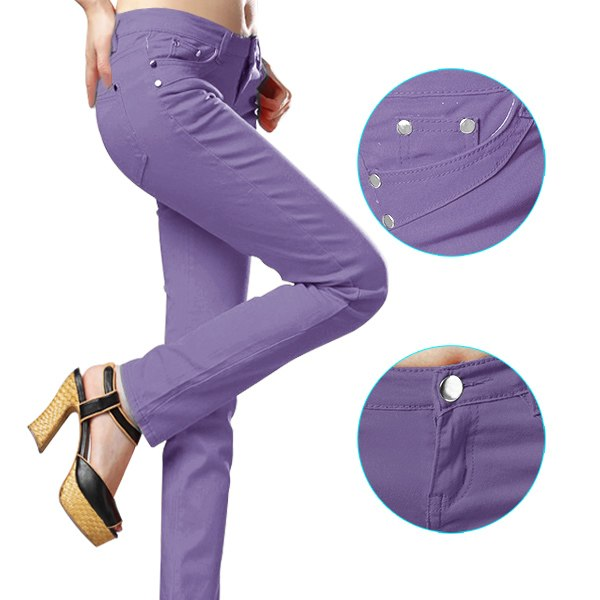 Womens-Stretch-Candy-Pencil-Pants-Casual-Slim-Fit-Skinny-Jeans-Trousers-6-Size