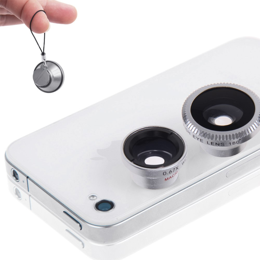 Magnetic fish eye wide angle micro lens 3 in 1 kits for for Magnetic fish tape