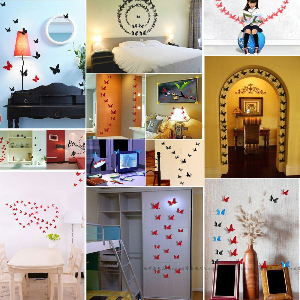 Butterfly Home Decor: 3D DIY Wall Stickers Butterfly Pop-up Home Decor Room Art
