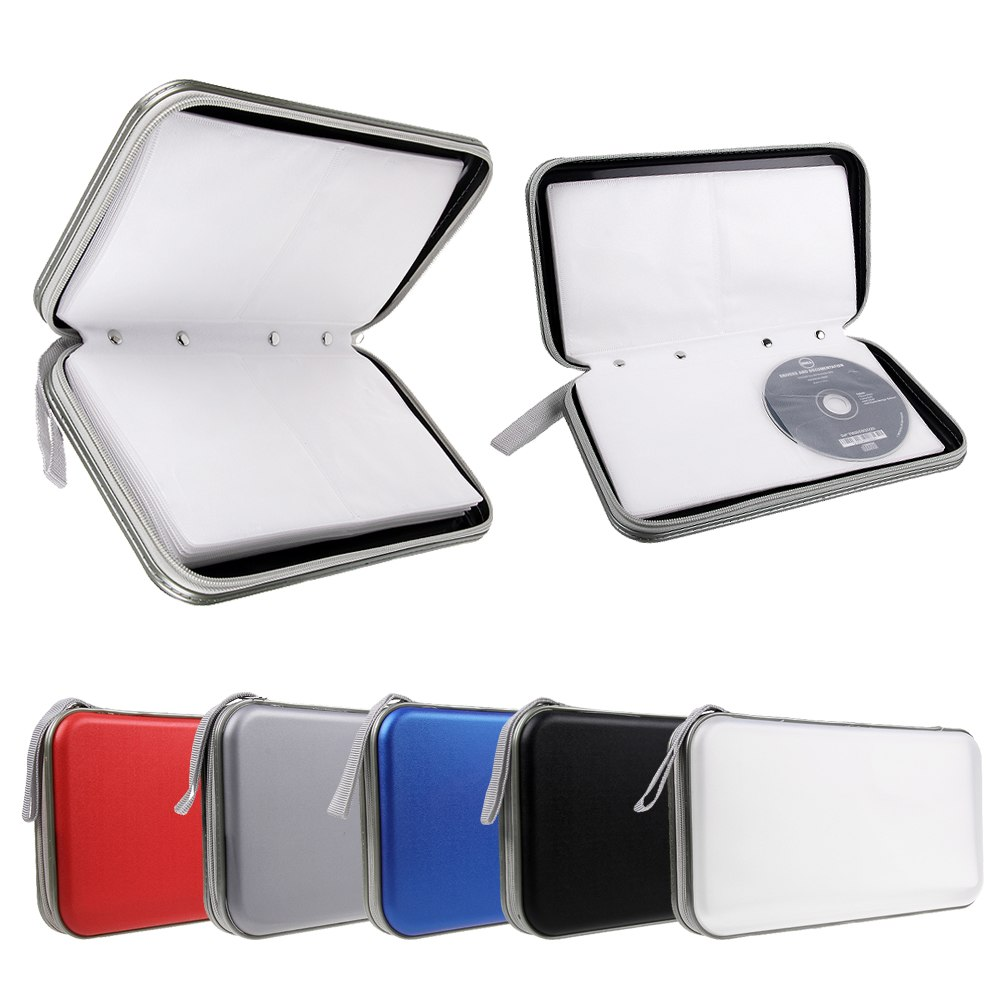 Cd dvd 40 80 disc storage carry case cover wallet holder - Pochette range cd originale ...