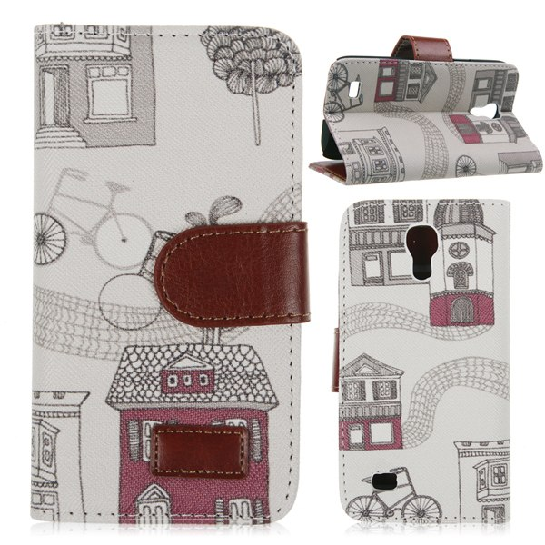 Flip PU Leather Wallet Pouch Case Cover for Samsung Galaxy S4 Mini i9190 i9195
