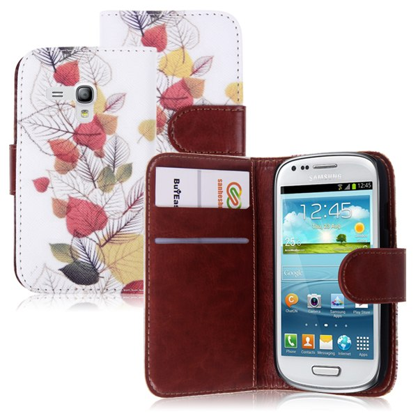 Flip Leather Wallet Card Slots Case Cover for Samsung Galaxy S3 III Mini i8190