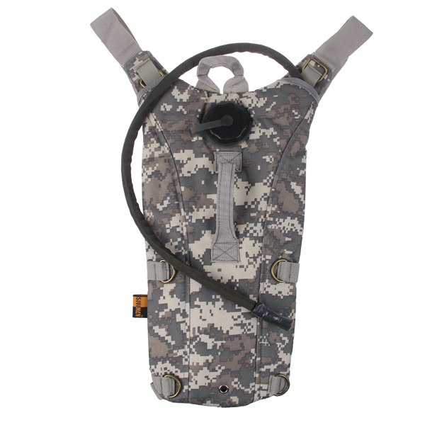 2.5L Tactical Outdoor Hydration Water Backpack Bag with Bladder Survival Hiking