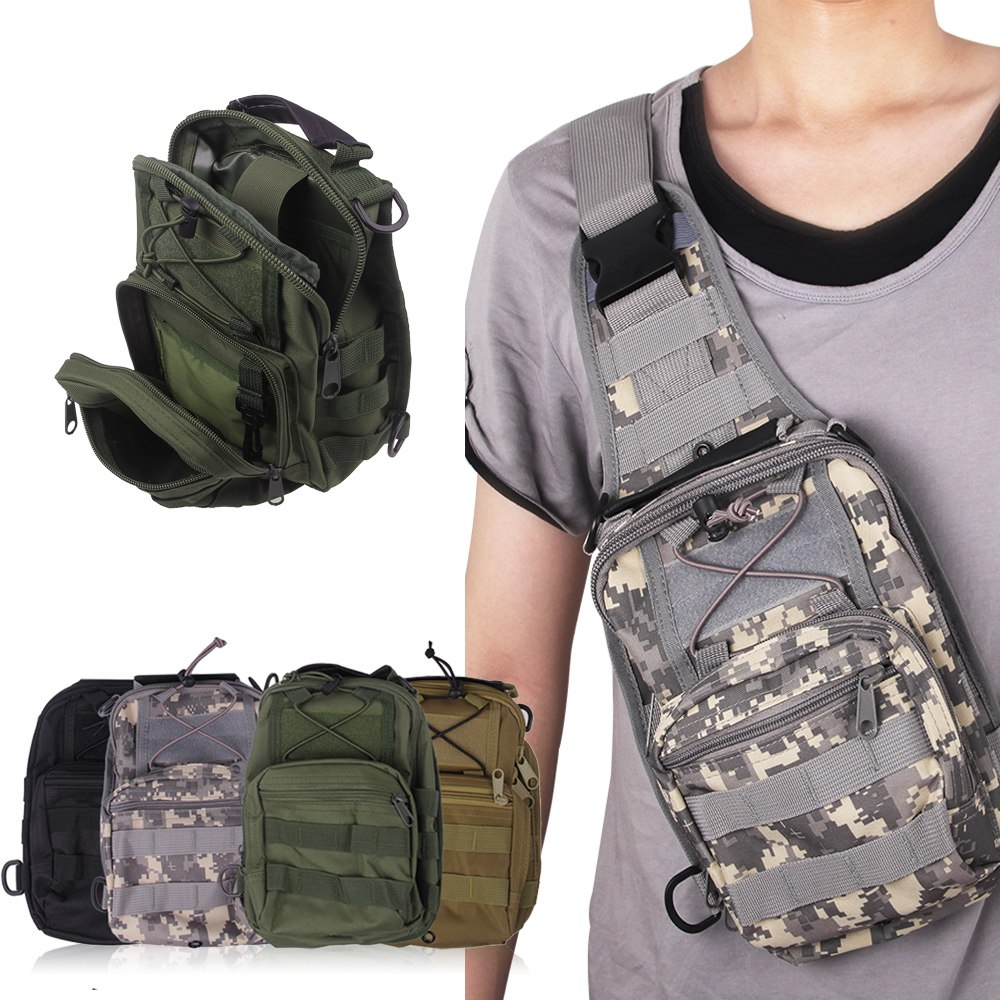 Compact Outdoor Tactical Utility Bag Hunting Hike Camp Sling Sport ...