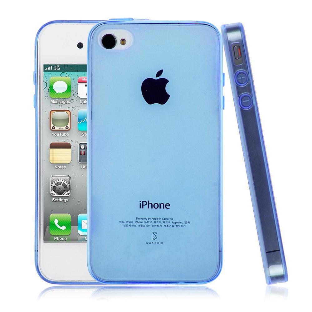 Cover-Custodia-Bumper-Silicon-TRASPARENTE-Morbida-Sottile-Per-iPhone-4-4S-5-5S-6