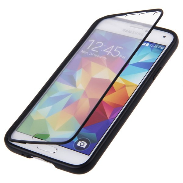 Flip soft tpu wrap up phone case cover for samsung galaxy for Housse samsung s5