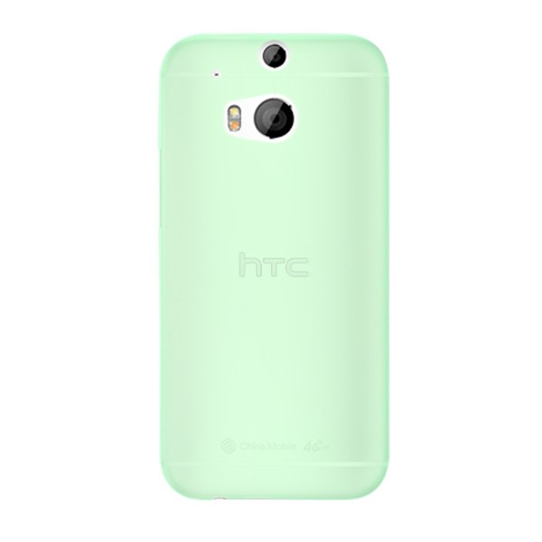 Slim Fit 0.3mm Plastic Clear Matte Back Case Protective Skin for HTC ONE 2 M8