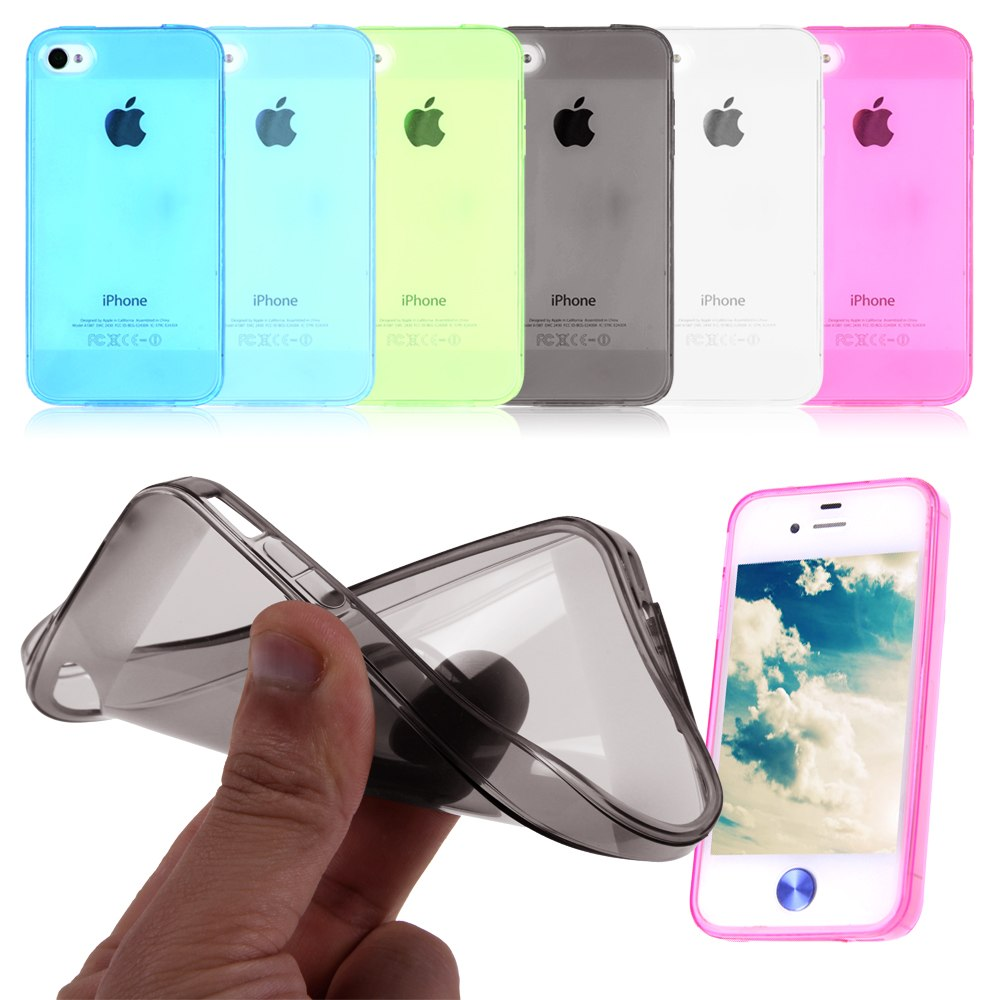 silicone tpu clair transparent back case housse tui coque pour iphone 4 4g 4s ebay. Black Bedroom Furniture Sets. Home Design Ideas