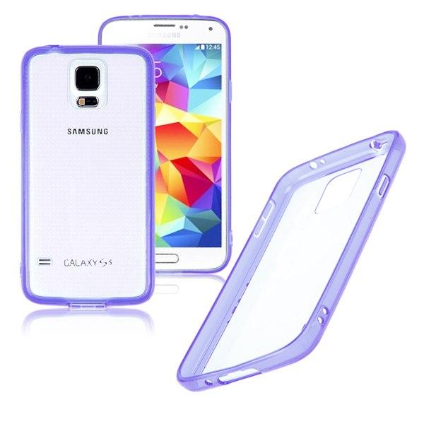 Contour Silicone Vitre Transparente Pour Samsung Galaxy S5 SV