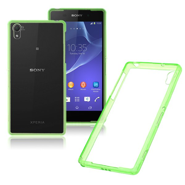 Soft Bumper Frame with Transparent Clear Thin Back Case Cover for Sony Xperia Z2