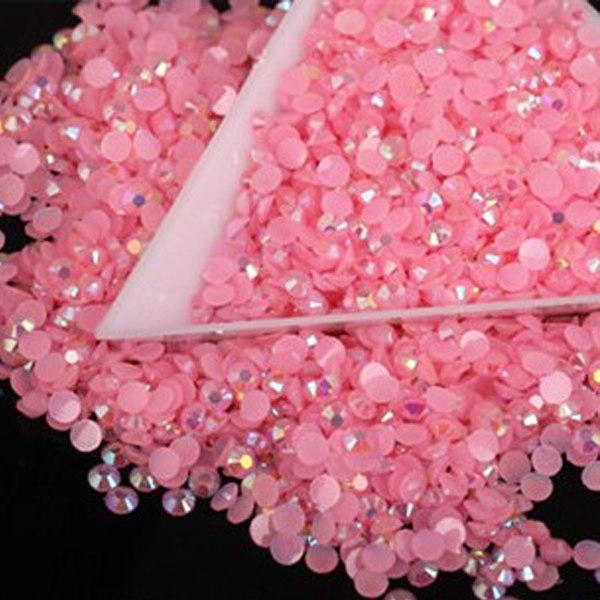 DIY 1000pcs 4mm Facets Resin Rhinestone Gems Flat Back Crystal beads Art NEW