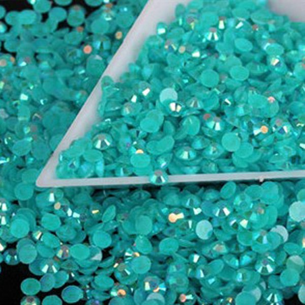 Diy 1000pcs 4mm 14 Facets Resin Rhinestone Gems Flat Back Crystal Beads U Pick