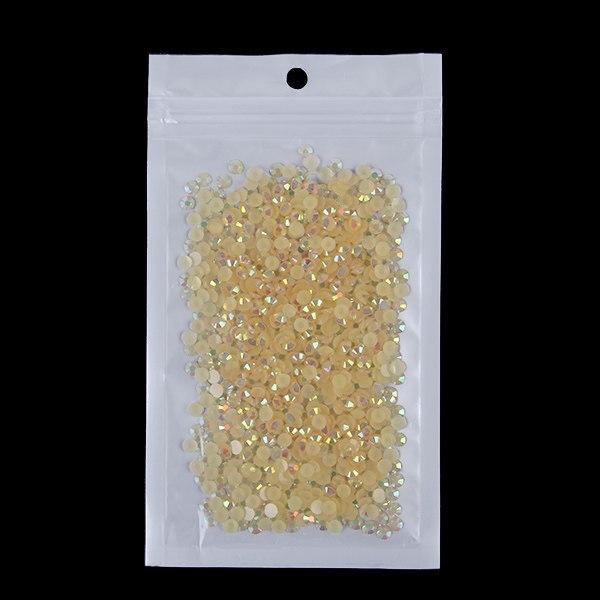 1000x 14 Facets Resin Rhinestone Gem Flat Back Crystal AB Beads 4mm DIY New Hot