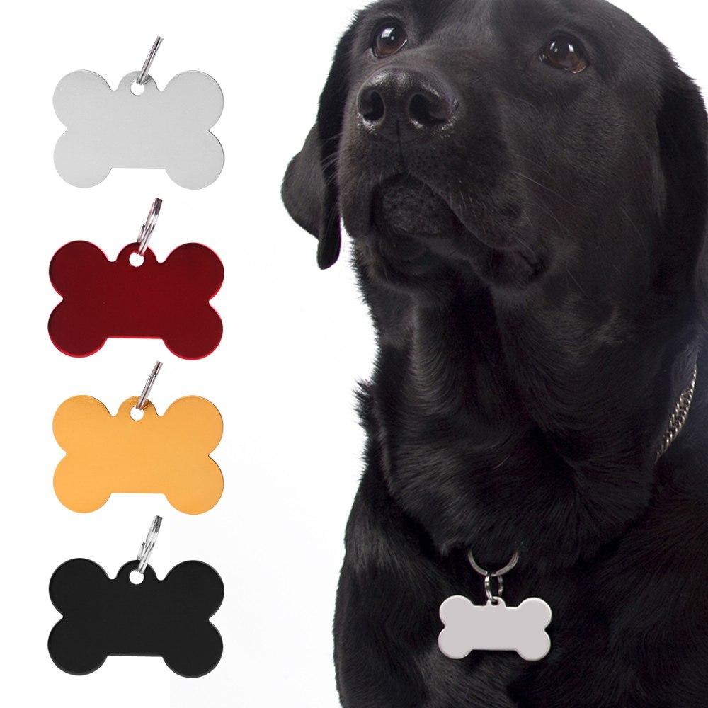 Collar Chapa Perro Mascotas Chapa Grabado ID Placa Etiqueta Nombre Y Teléfono