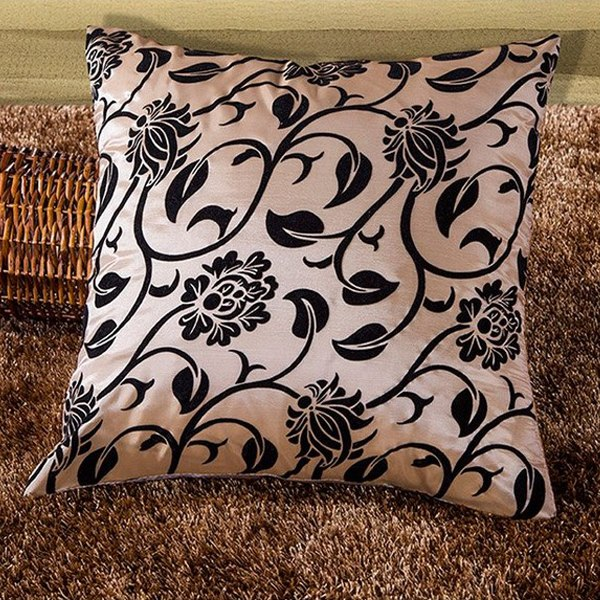 """Flower Decor Pillow Case Cushion Cover Bed Home Room Sofa Office Square 16.5"""""""