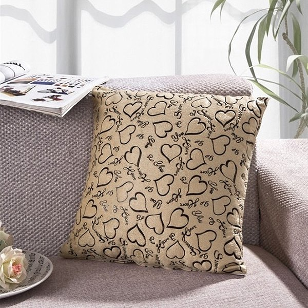 Sofa Home Bed Decorative Throw Pillow Case Cushion Cover Square Heart Pattern eBay