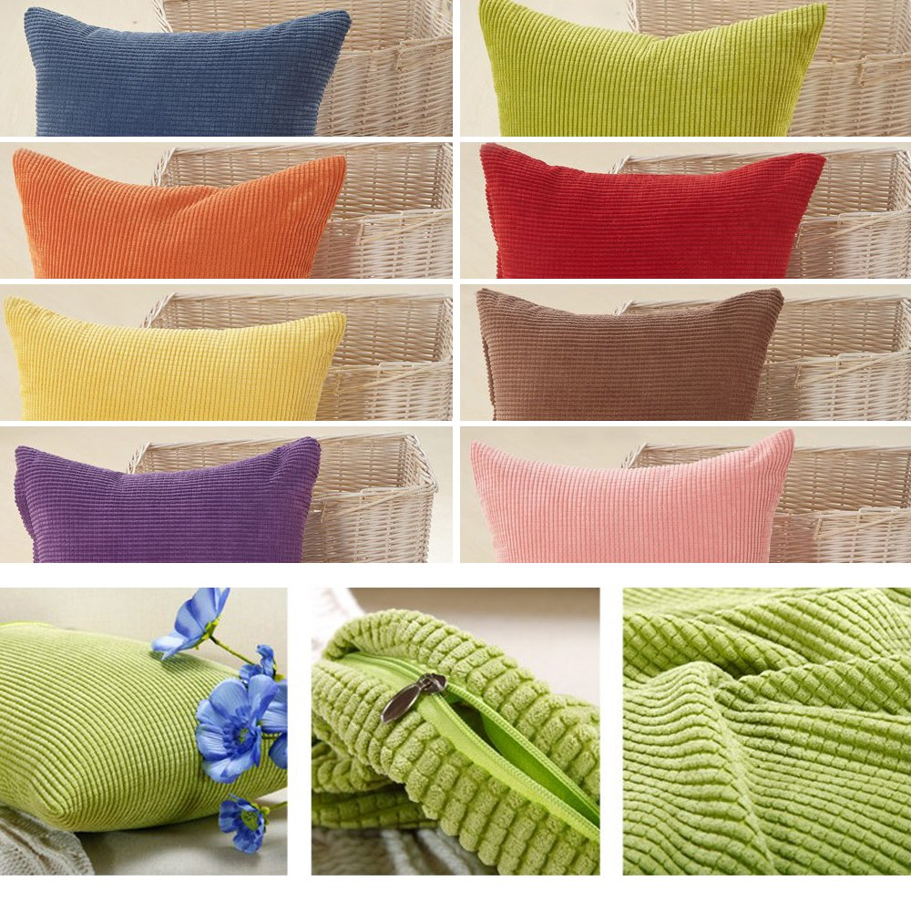 Sofa Pillows Soft: Soft Sofa Pillow Case Home Room Decorative Throw Cushion