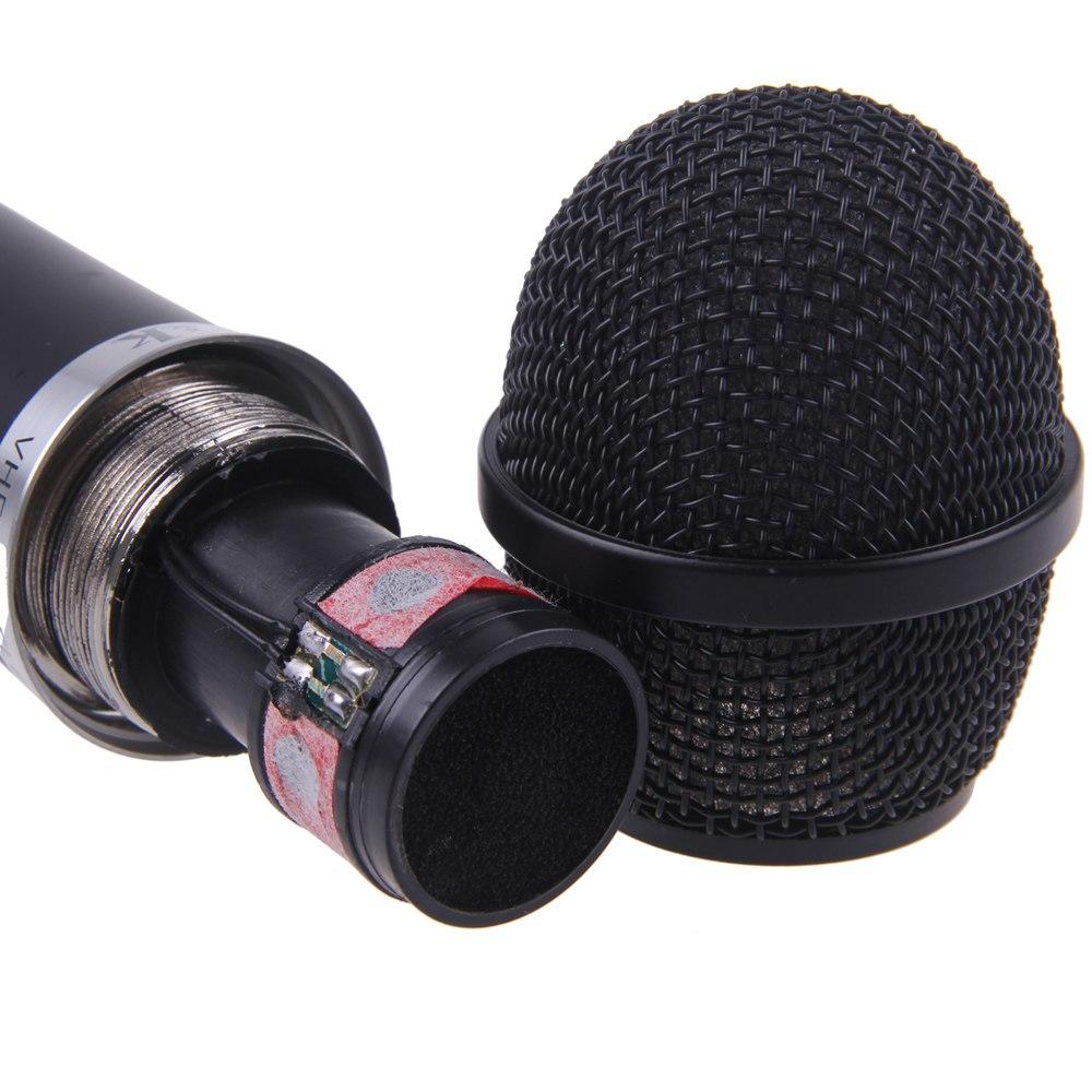2x pro sans fil micro microphone fm pr chant dj karaok spectacle soiree studio ebay. Black Bedroom Furniture Sets. Home Design Ideas