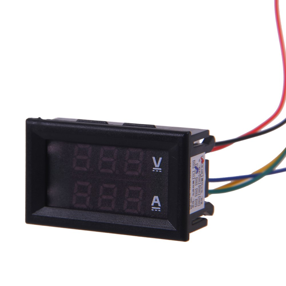 100v 100a dc car auto digital voltmeter ammeter led amp. Black Bedroom Furniture Sets. Home Design Ideas