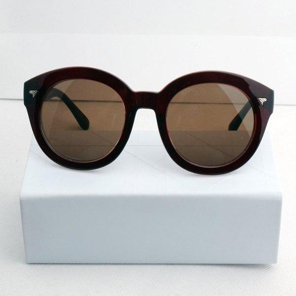 Fashion Retro Vintage Shades Women Designer Oversized Sunglasses Plastic Frame