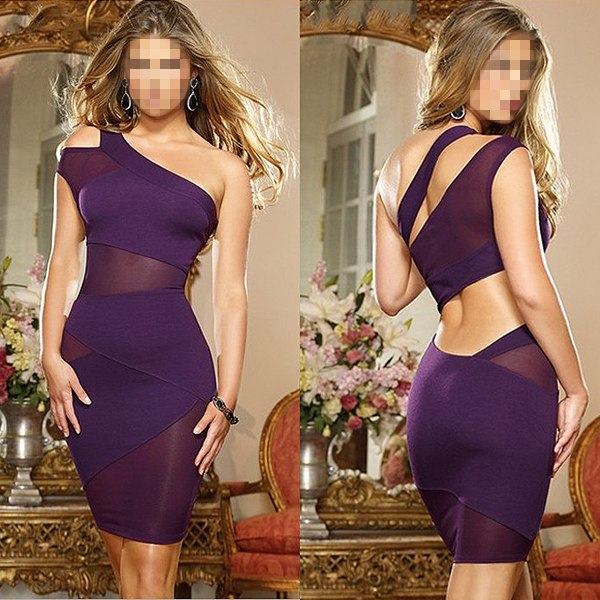 Sexy Women Ladies Sleeveless Cocktail Party Evening Dress Bodycon Bandage Mini