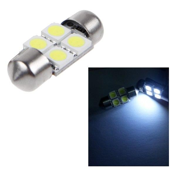 4 10x 5050 31mm 4smd Car Rv Interior Dome Festoon Led Light Bulbs Lamp Dc12v Ebay