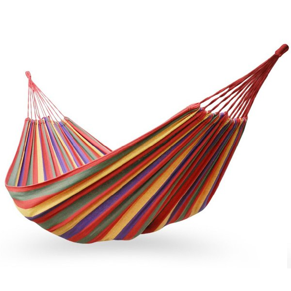 Hammock-Air-Chair-Hanging-Swinging-Cotton-Fabric-Camping-Outdoor-Single-Person