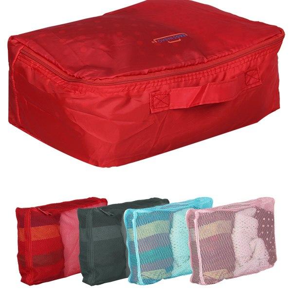 ensemble 5 sac de rangement bagage voyage organisateur valise trousse toilette ebay. Black Bedroom Furniture Sets. Home Design Ideas