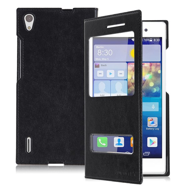"""For Huawei Ascend P7 5"""" Android Phone New Leather Flip Case Cover Protector Skin"""