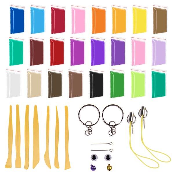 12/24/30 Farben Fimo Soft Polymer Ton Clay Knete Modelliermasse Modellierung Set