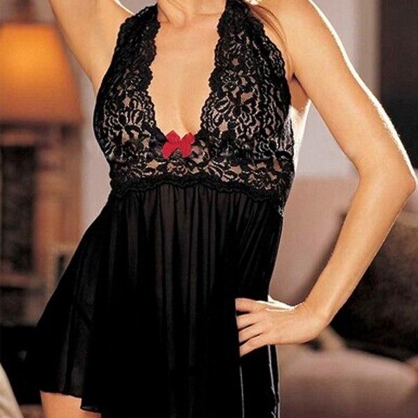 Sexy-Women-Lingerie-Nightwear-Underwear-Ladies-Lace-Sleepwear-Babydoll-G-String