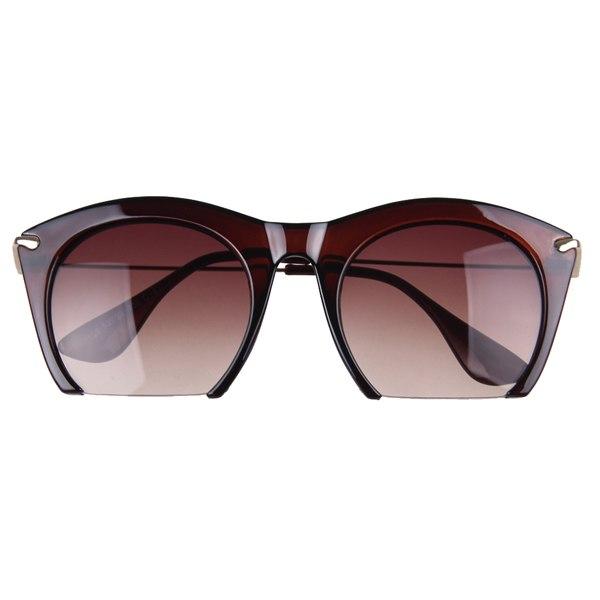 Fashion Clubmaster Vintage Retro Cat Eye Designer Half Frame Sunglasses Wayfarer