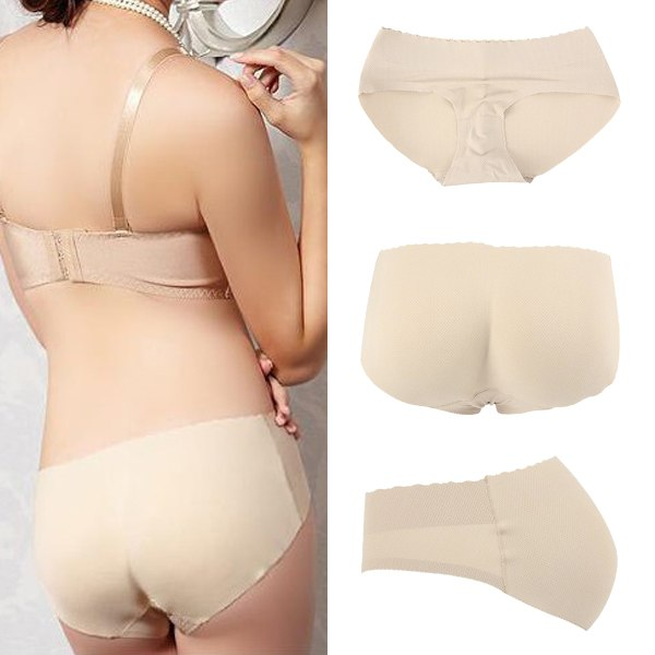 Culotte Fausses Fesses Femme Sexy Slip Push Up Prothese Fessier Coussinet Brief
