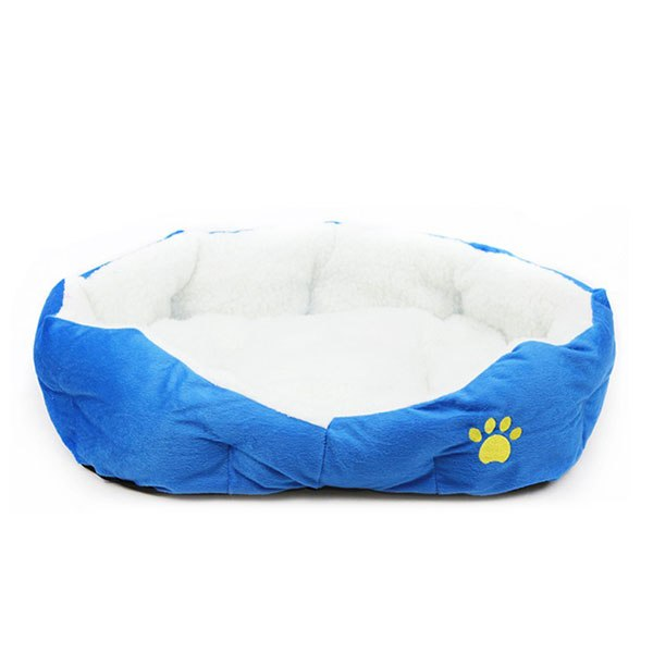 Soft Fabric Washable Dog Pet Warm Basket Bed with Fleece Lining