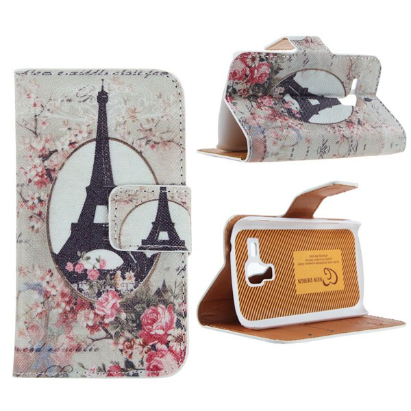 Flower Flip Leather Wallet Case Cover For Samsung Galaxy S/ Trend Duos S7562