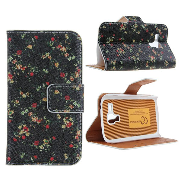 Flip Leather Wallet Case Cover For Samsung Galaxy S Duos S7562/Trend Duos S7560