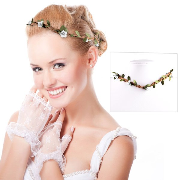 New Festival Flower Floral Garland Crown Headband Hair Band Bridal Beach Party