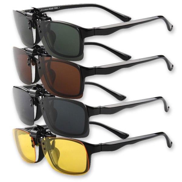 Flip Up Clip On Sunglasses  multicolor lenses polarized flip up clip on sunglasses uv400