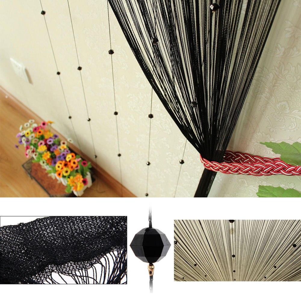 Beaded string curtains - Beaded String Curtain Door Divider Crystal Beads Tassel Screen Panel Home Decor