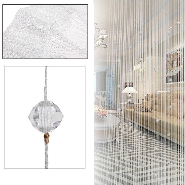Rideau fils fil perle de corde voilage porte fen tre for Voilage pour porte fenetre