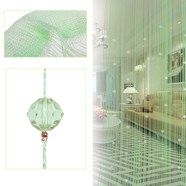 Window Curtain Door Room Divider Drop Beaded String Fringe Tassel Fly Screen
