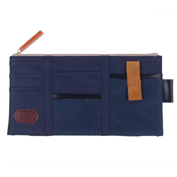 car sun visor pocket documents organizer storage pouch bag cd dvd cards holder ebay. Black Bedroom Furniture Sets. Home Design Ideas