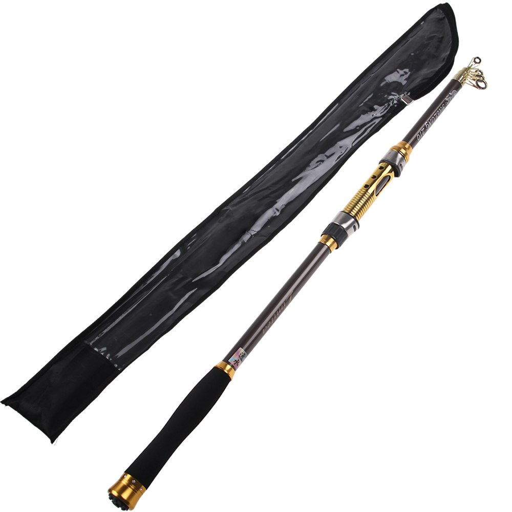 2 1m portable fiber telescopic fishing rod travel spinning for Best telescoping fishing rod