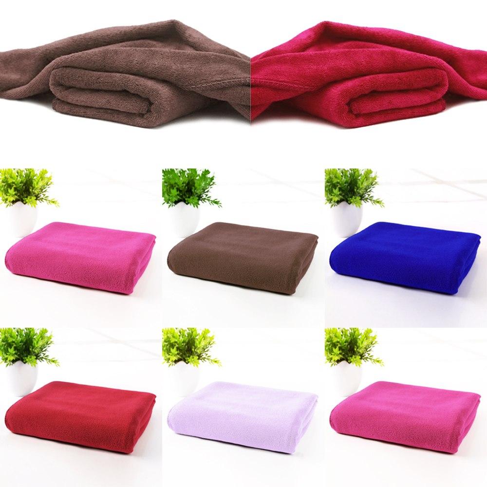 serviette de bain drap microfibre toilette cheveux douche plage towel 70x140cm ebay. Black Bedroom Furniture Sets. Home Design Ideas