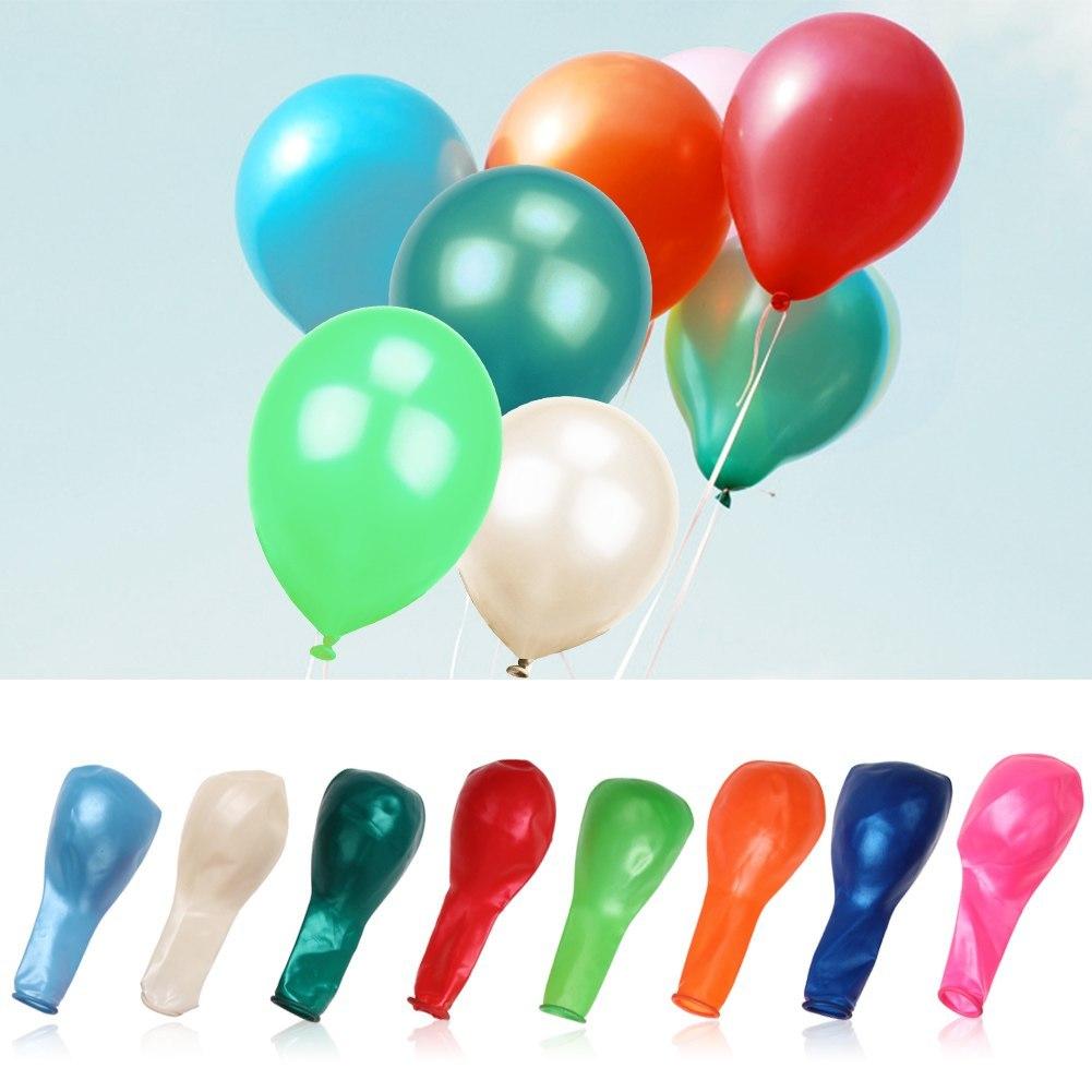 "100pcs Pearl Helium Latex Ballons party Wedding Birthday Decoration 10"" 25cm"