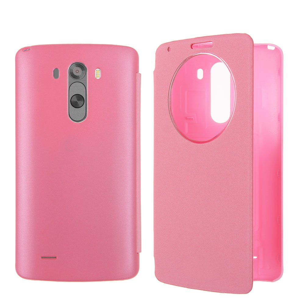 New Quick Circle Flip Leather Case Battery Cover Skin For LG G3 D850 D855