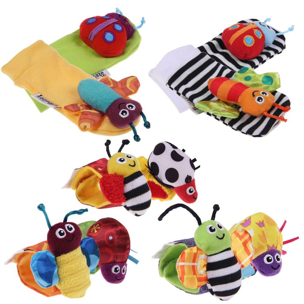 Developmental Baby Toys : Baby kids infant foot sock wristband rattles developmental